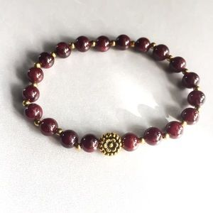 Jewelry - Gold Garnet Rosary Bracelet